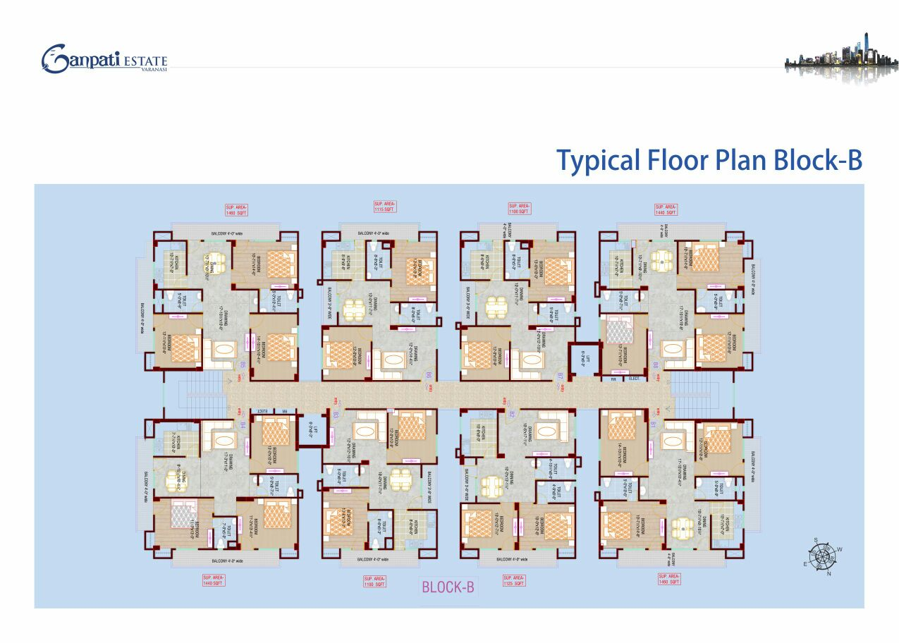 typical floor plan ganpati estate