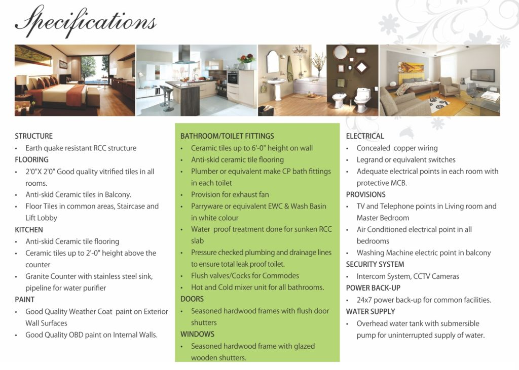 specifications of ganpati estate